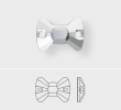 Factory Pack Swarovski Bow Tie Sew On Stones, Style 3258
