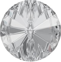 3015 Rivoli Round Buttons, Crystal