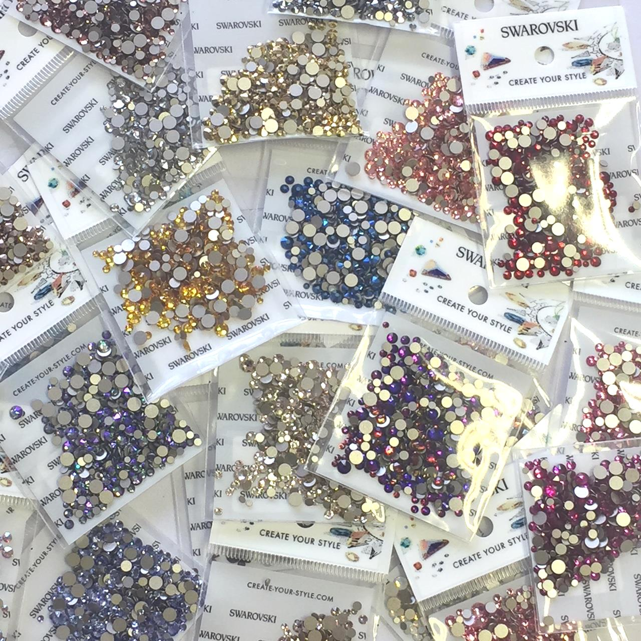 e3e550cd0 Mixed Pack of 400pc Swarovski Flatback Crystals, Non-Hotfix, Mix Of Sizes  SS5/SS7/SS9/SS12/SS16. Click here to choose colour.